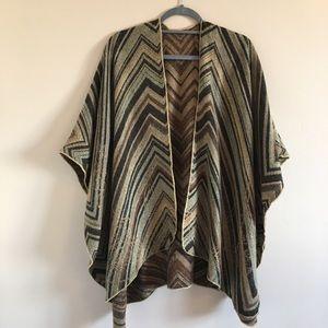 Sweaters - Aztec Tribal Boho Poncho Cardigan Wrap